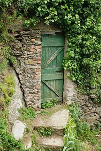 Door to vineyard on Cinque Terre hiking trail