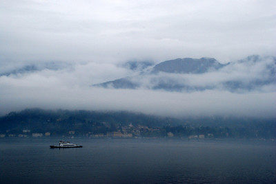 Lake Como after a rain