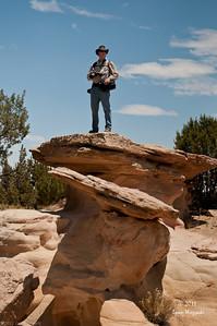 Jim on a rock