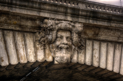 Dionysus on Pont Notre Dame, Paris, France