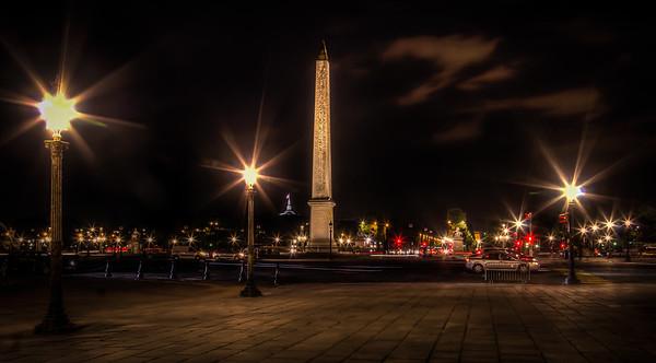 The Place De La Concorde and Obelisk, Paris, August 2013