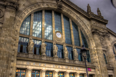 Front Entrance to the Gard Du Nord Station, Paris, France