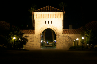 Stanford quad at night
