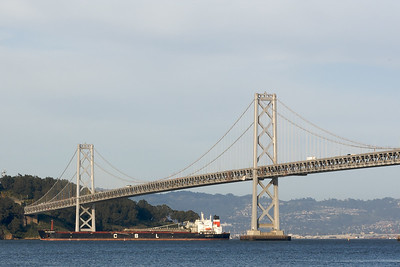 Bay Bridge and Ship