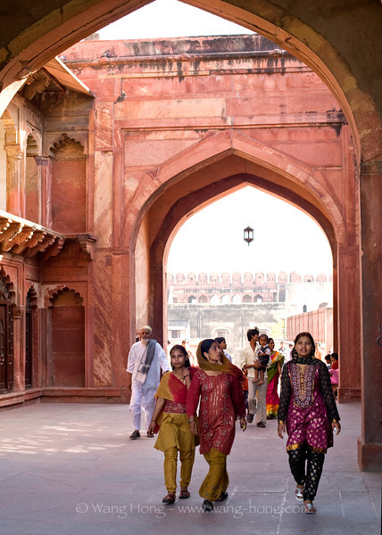 In Agra Fort.
