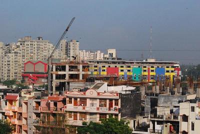 Colours of new shopping malls - Vaishali