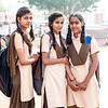 School girls on the street of Pushkar, November 2019.