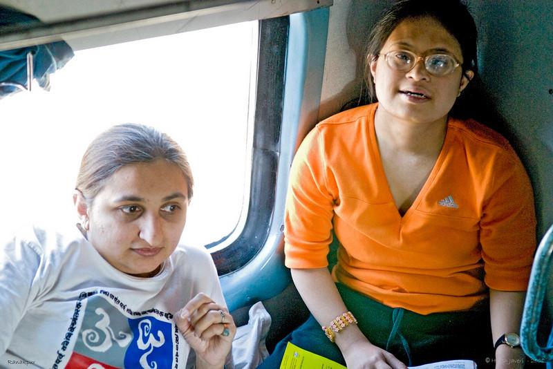 Renu & Vini in the train