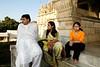 Nilesh, Madhavi & Vini at main temple