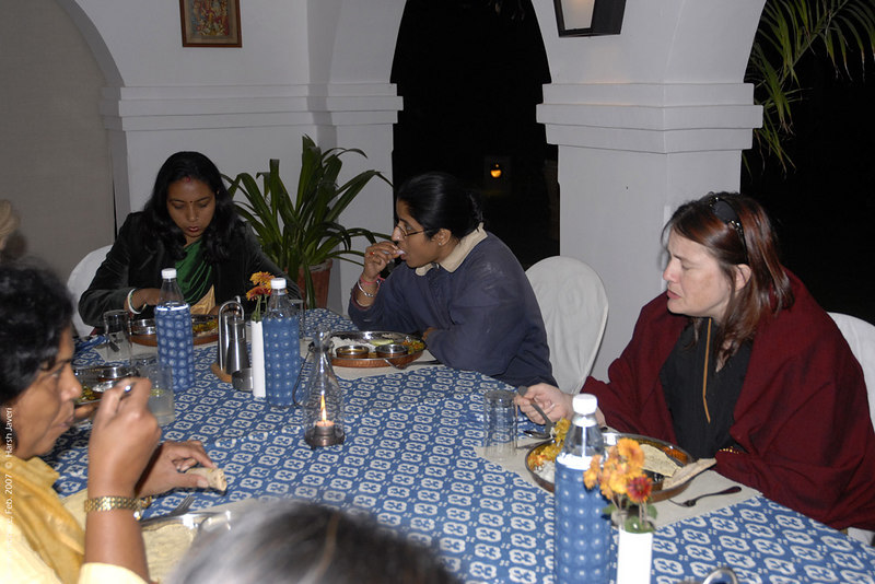 Dinner at Khem Vilas - Usha, Padmini & Connie