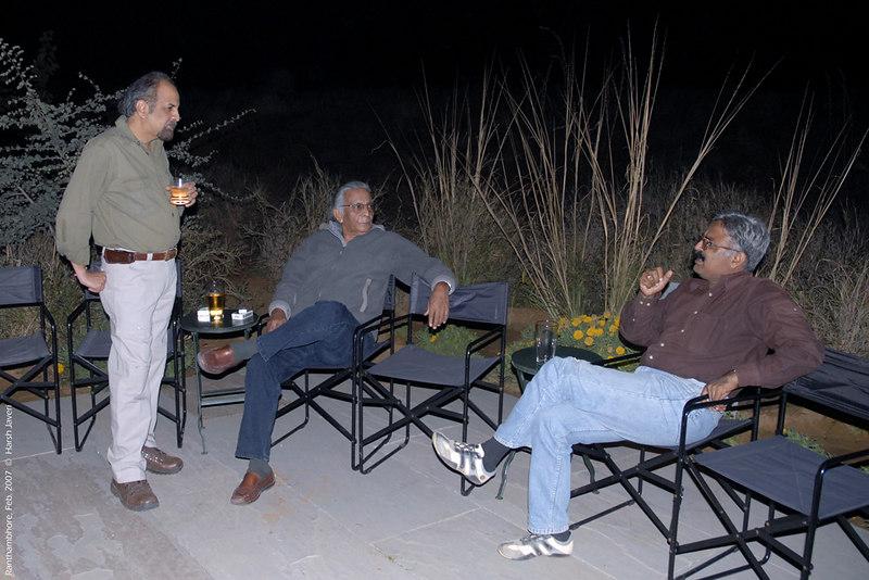 Ashu, John Singh & Govardhan at Khem Vilas