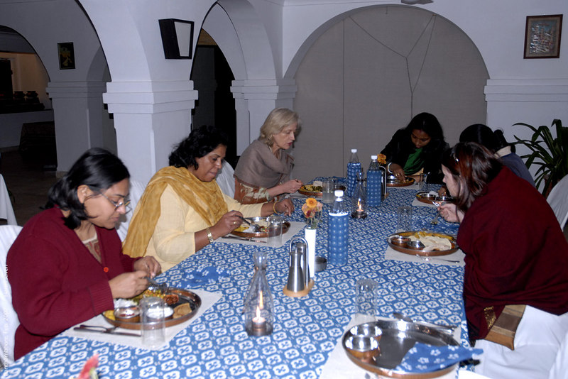 A traditional thali dinner
