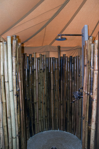 Bamboo shower!