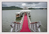 Private jetty to take us across the lake to hotel Leela Palace
