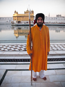 Guard at the Golden Temple, Amristar