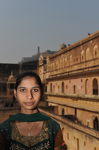 Girl at the Amber Fort, Jaipur