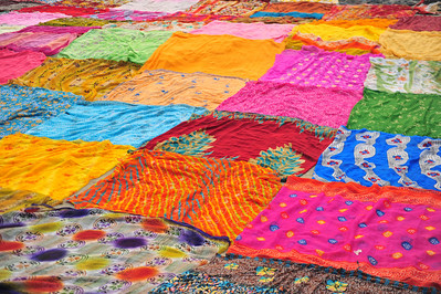 Saris drying in Agra