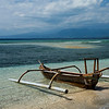 Ocean side on Gili Air Island early morning