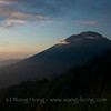 Mt. Agung at sunrise seen from Mt. Batur.