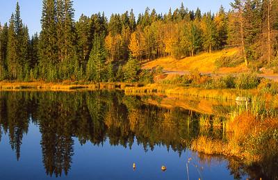 Vermilian Lakes.  Banff, Alberta Canada.
