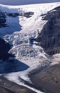 Dome glacier.  Icefield Parkway, Canadian Rockies, Canada.