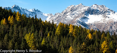 The Alps in the fall