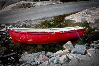 Red boat, Illulissat, Greenland
