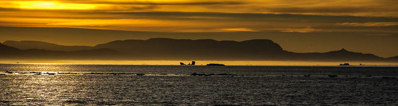 Sunset, Disko Bay, Illulissat, Greenland
