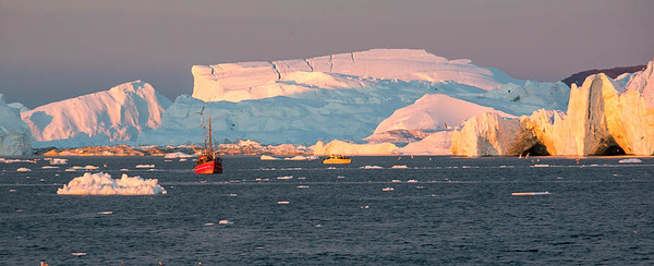Sunset on Iceberg, Disko Bay, Illulissat, Greenland