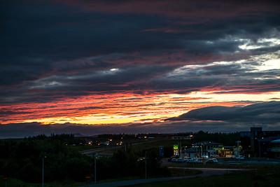 Sunset, Hotel Stracta, Hella, Iceland
