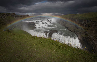 Rainbow over Guilloss Falls, Iceland