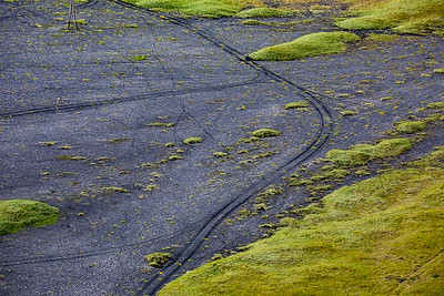 2-track on sand, near Dyrholaey, Iceland