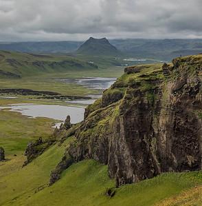 Volcanic cone, near Dyrholaey, Iceland