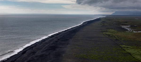 Black sand beach, near Dyrholaey, Iceland