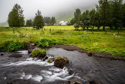 Stream & Fog, Foss A Sidu, Iceland