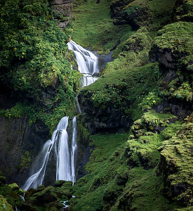 Waterfall, near Vik, Iceland