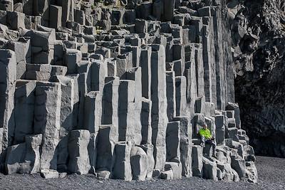 Reynisdrangar Cliffs, Reynisfjara Beach, Iceland