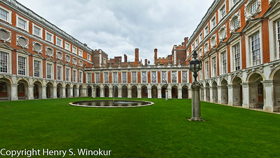 ©2010 Henry S. Winokur  This is actually a pano (3 images) of the interior of Hampton Court Palace, in Hampton Court, about 30 miles west of London.