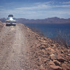 Road that parallels bay.  Conception Bay, Baja California, Mexico 1974.