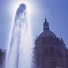 Fountain near plaza mission.  Guadalajarea, Mexico.  1971