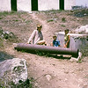 Twink, Carl and Denise Bumann with Spanish cannon.  San Blas, Mexico.  1971