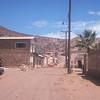 Typical town street.  Mulege, Baja California, Mexico.  1974
