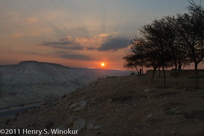 Sunset at Ben Gurion's