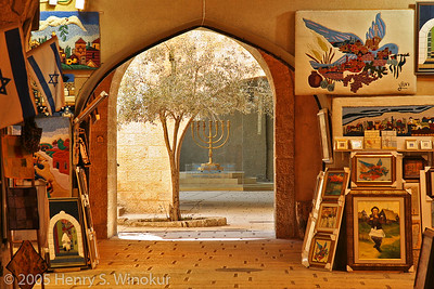 A shop in the Old City of Jerusalem, Israel.