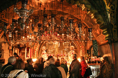Inside the Church of the Holy Sepulchre, inside the Old City of Jerusalem, Israel