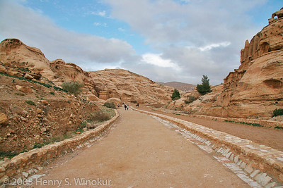 This is actually the road that goes into the ancient town of Petra.  The road itself was no more than 25' wide at this point and mostly just saw either pedestrian or carriage traffic.