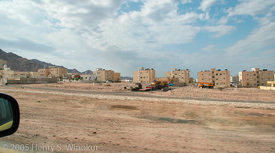 On the way to Petra, just out of the port of Aqaba.