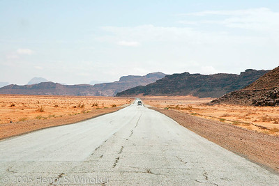 On the road to Petra...no rush hour here! :)