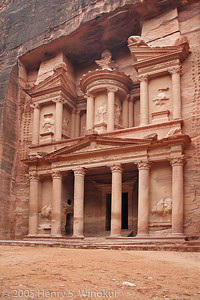 "The ""treasury"" in beautiful, downtown Petra.   Used in ""Indiana Jones and the Last Crusade"" movie, which is why it might look familiar."