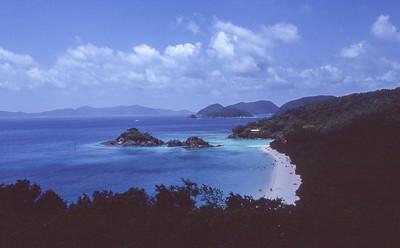Overview of Trunk bay.  St John island, US Vergin islands.  1979